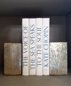 Silver Slab Bookends